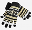 New Orleans Saints Gloves - Striped