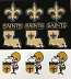 New Orleans Saints Stickers - 4 Styles