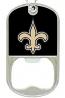 New Orleans Saints Key Chain - Dog Tag Bottle Opener
