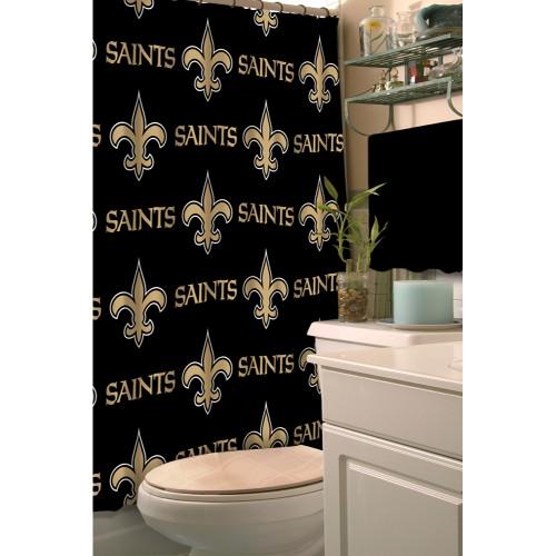 New Orleans Saints Fabric Shower Curtain