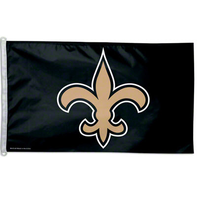 New Orleans Saints Black and Gold Flag - 3' x 5'