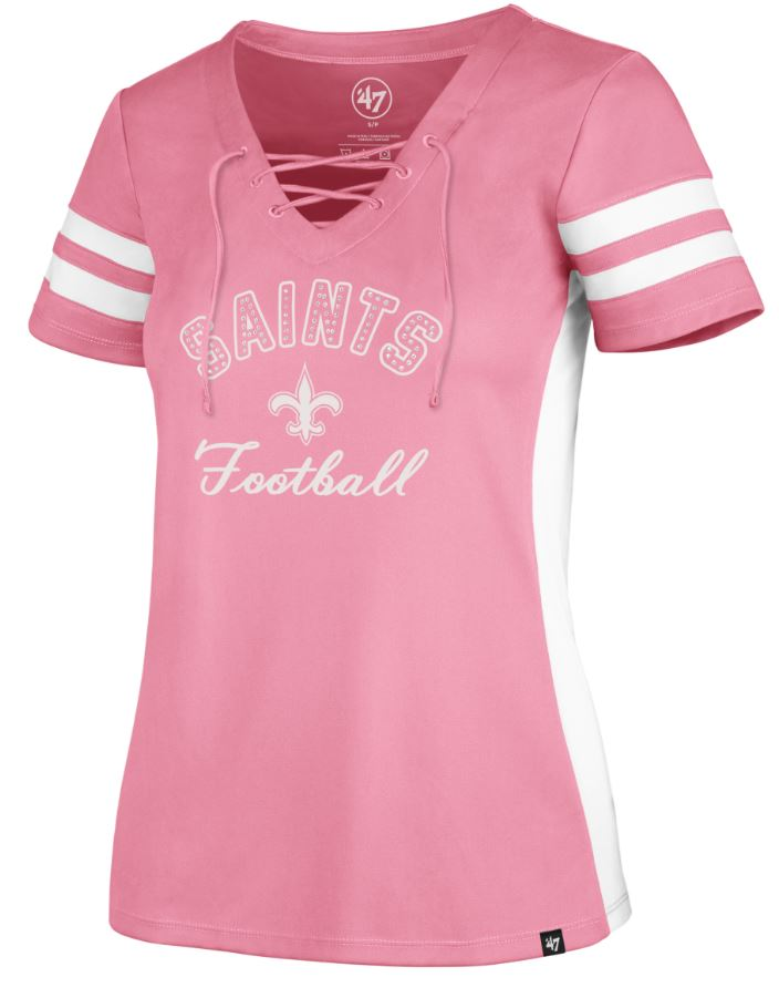 New Orleans Saints Shirt - Women Gem Arch Turnover VNK