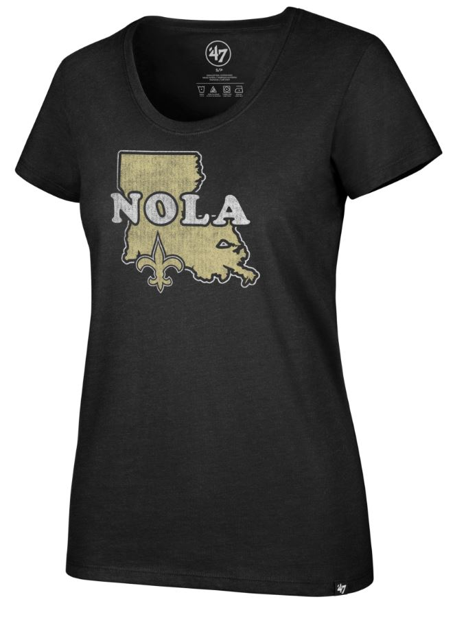 New Orleans Saints Shirt - Women Regional Club Scoop Neck