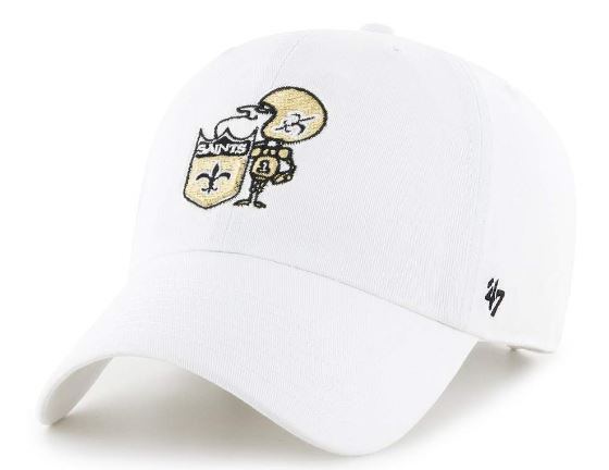 New Orleans Saints Cap - Clean Up White Sir Saint