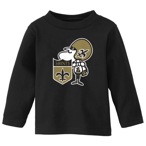 New Orleans Saints Juvenile Long Sleeve Sir Saint T Shirt