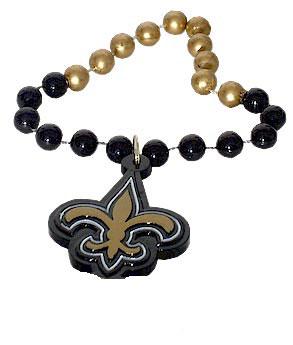New Orleans Saints Fleur de lis Beads