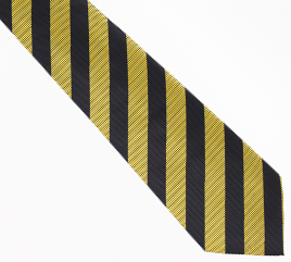 New Orleans Saints Gold/Black Woven Stripe Tie