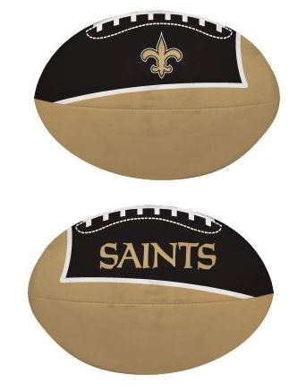 "New Orleans Saints Football - ""Quick Toss"" 4"" Softee"