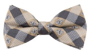 New Orleans Saints Bow Tie - Check