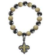 New Orleans Saints Bracelet - Chrome Bead