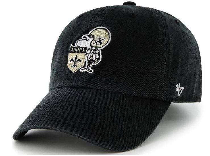 New Orleans Saints Cap - MVP Sir Saint Black Adjustable 04bc4932a