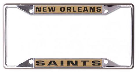 New Orleans Saints Auto Frame - Metallic Gold