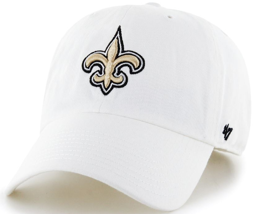 New Orleans Saints Cap - Clean Up White