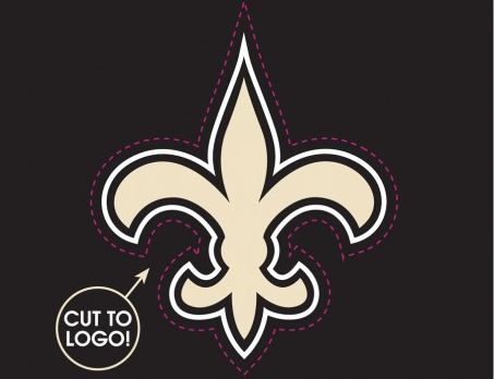 New Orleans Saints Decal - Multi-Use - Cut to logo