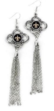 New Orleans Saints Earrings - Charmed Tassel