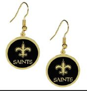 New Orleans Saints Earrings - Gold Tone