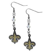 New Orleans Saints Earrings - Crystal FDL Dangle