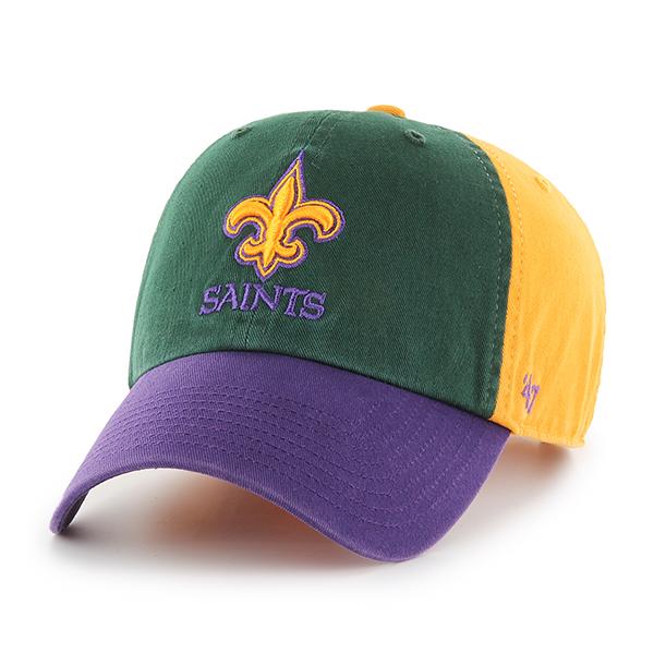 New Orleans Saints Mardi Gras Adjustable Cap
