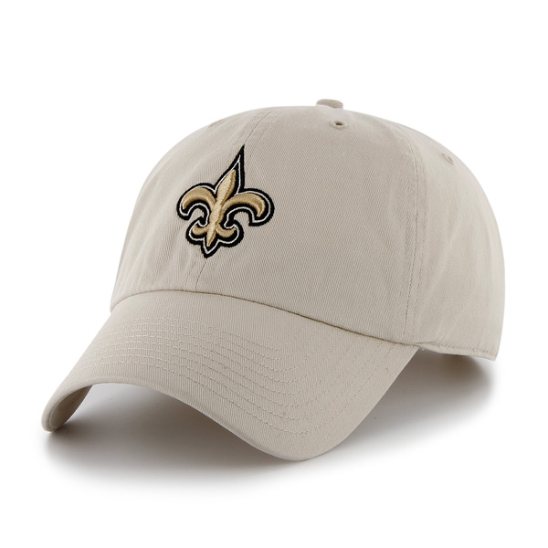 New Orleans Saints Brand 47 Raised Garment Wash Clean Up Adjustable Cap-Tan
