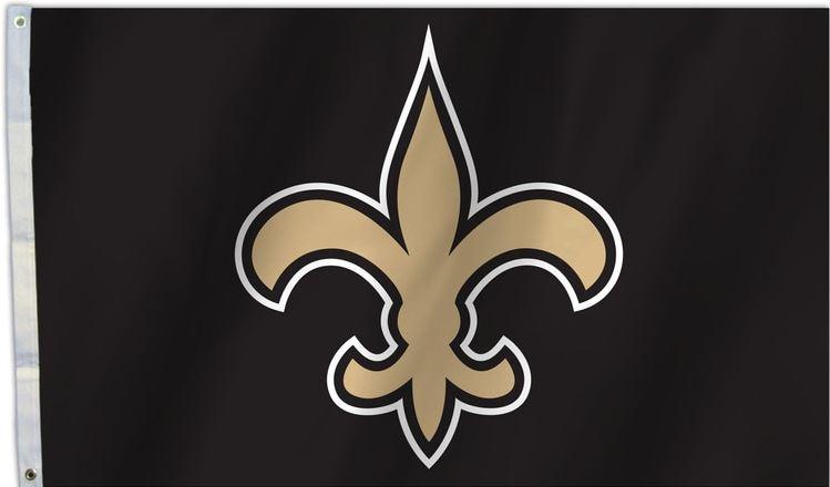 New Orleans Saints Flag - FDL Black 3' X 5'