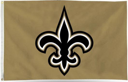 New Orleans Saints Flag - FDL Gold 3' X 5'