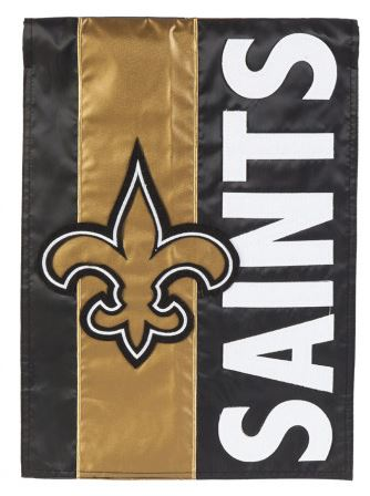 New Orleans Saints Flag - Garden 2-Sided Mixed