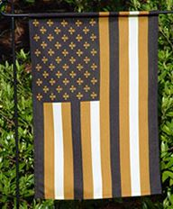 New Orleans Saints Garden Flag - Fleur de Lis/Stripe