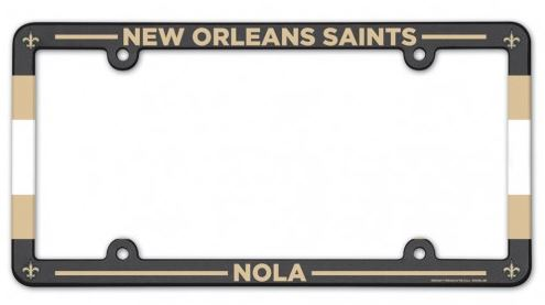 New Orleans Saints Auto Frame - Plastic Stripe