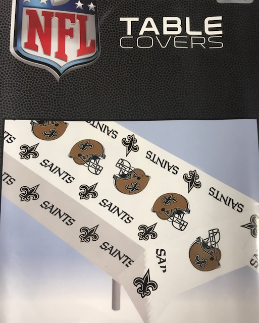 New Orleans Saints Plastic Table Cloth