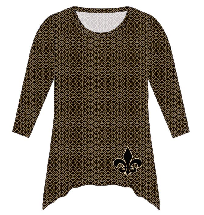 New Orleans Saints Blouse Tunic LS