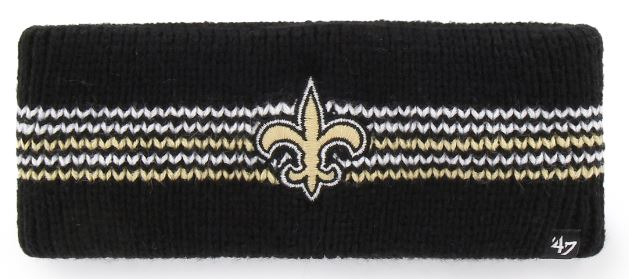 New Orleans Saints Headband - Addison Black