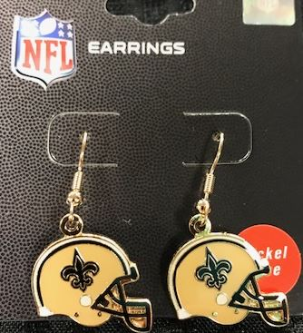 New Orleans Saints Earrings - Helmet