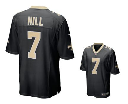 New Orleans Saints Jersey - Black Youth Hill #7