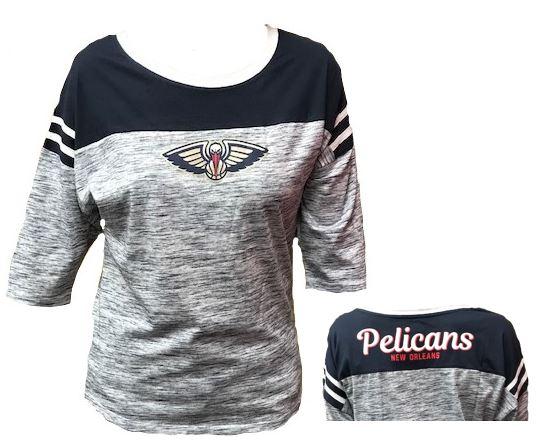 New Orleans Pelicans Women Shirt - 3/4 Sleeve Heather