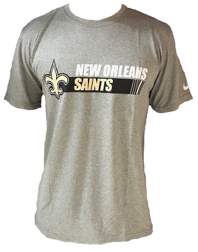 New Orleans Saints Shirt - Team Conference Gray