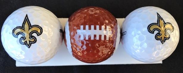 New Orleans Saints Golf Balls - Three Pack