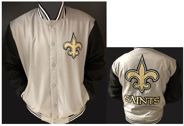 New Orleans Saints Jacket - Gray Poly Twill