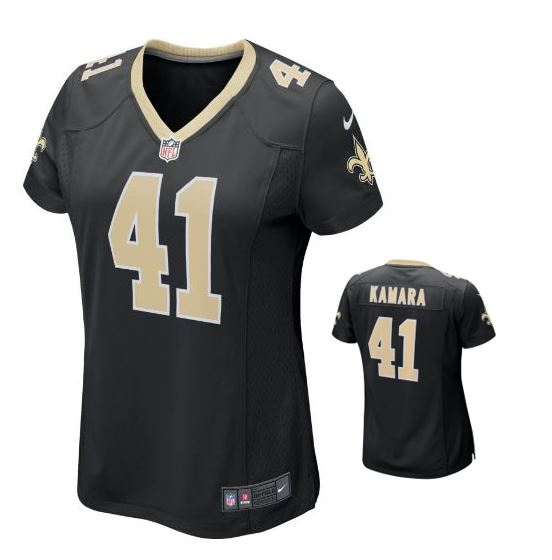 New Orleans Saints Game Black Women Jersey #41