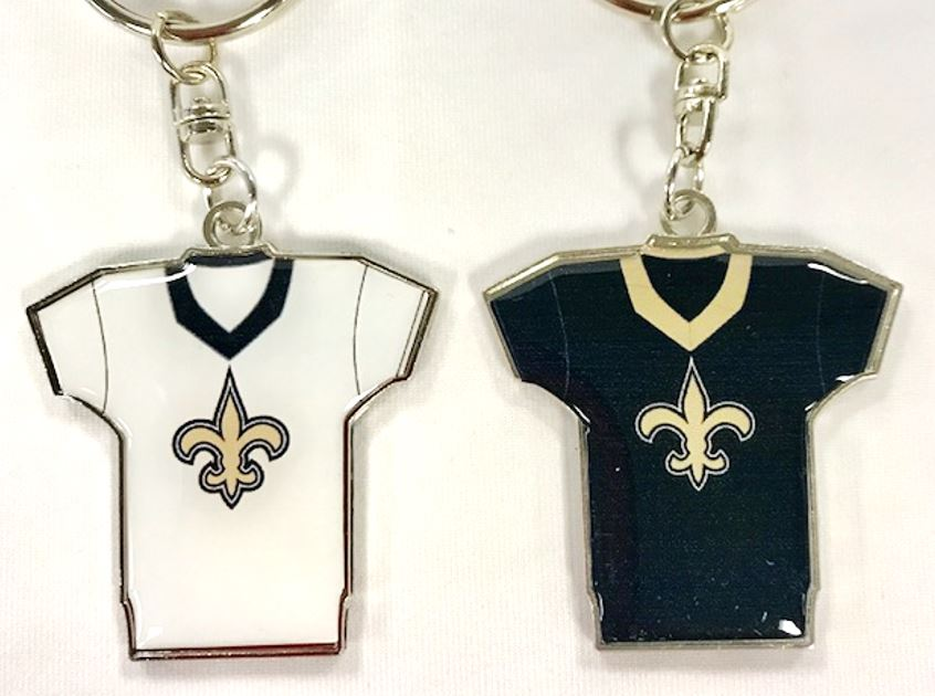 New Orleans Saints Key Chain - Reversible Home/Away Jersey