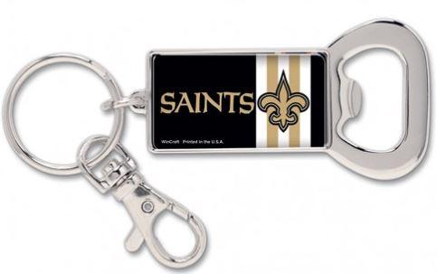 New Orleans Saints Key Chain - Bottle Opener Rectangle