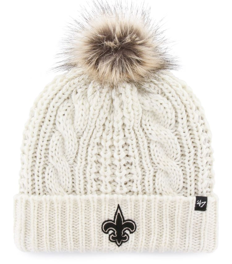 New Orleans Saints Knit Hat - Meeko Cuff Woman