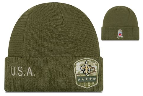 New Orleans Saints Knit Hat - Military