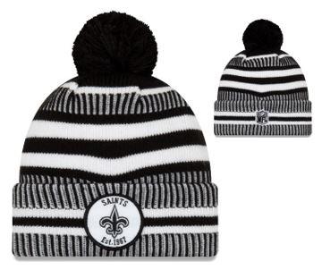 New Orleans Saints Knit Hat - Sport Knit HM Black