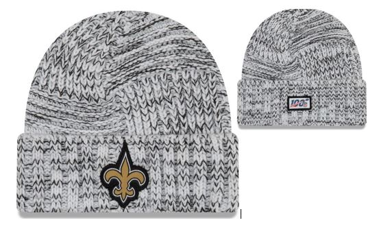 New Orleans Saints Knit Hat - White 2019 NFL Sideline Woman