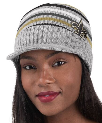 New Orleans Saints Knit Cap - Striped Cadet