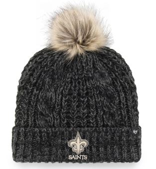 New Orleans Saints Knit Hat - Meeko Cuff Black