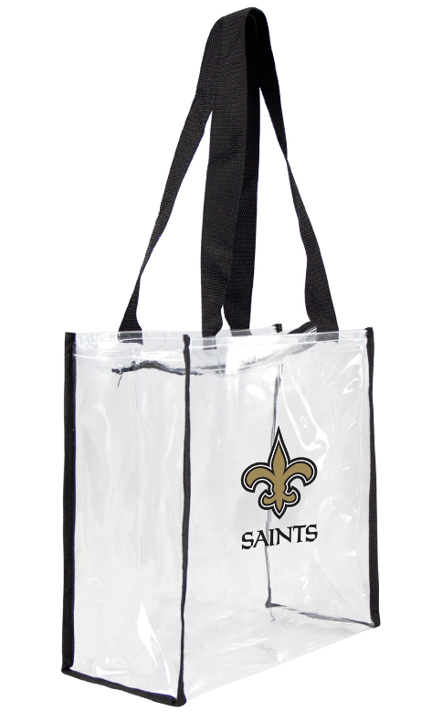 New Orleans Saints Clear Square Stadium Tote
