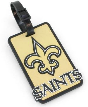 New Orleans Saints Luggage Tag - Soft
