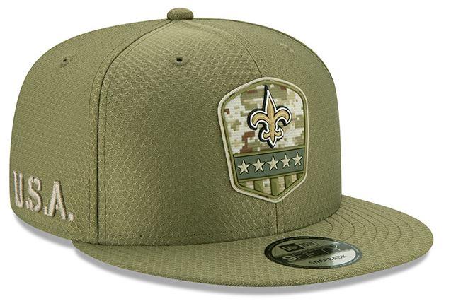 New Orleans Saints Military Cap - Snapback 950