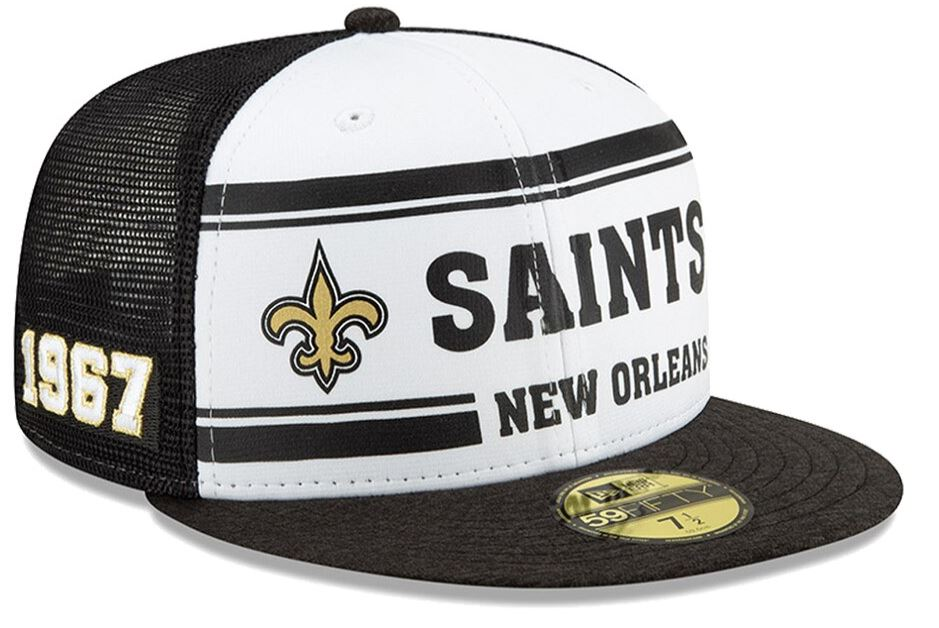 New Orleans Saints Cap - 2019 NFL Sideline Home Official 59FIFTY 1970s Fitted Hat